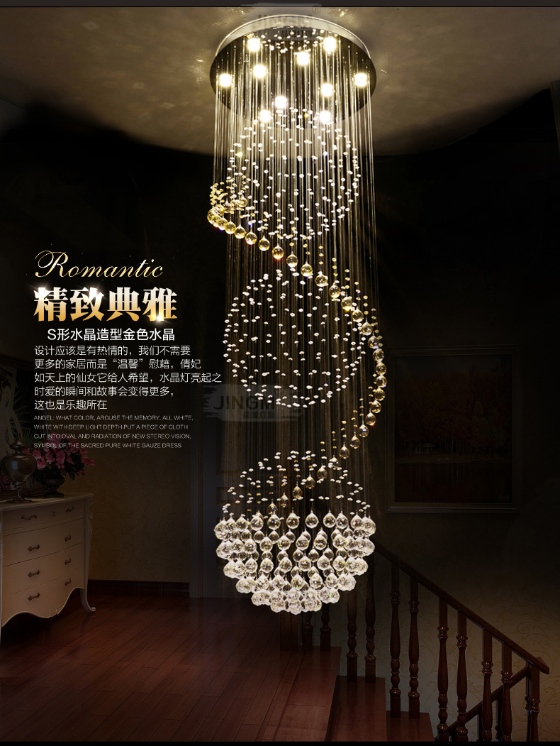 led detail light in crystal fancy china chandelier made modern product pendant ceiling