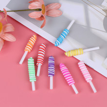 5pcs Slime Charms Candy Mini Lollipop Sweets Soft Clay Slime Accessories Beads Making Supplies For DIY Scrapbooking Crafts(China)