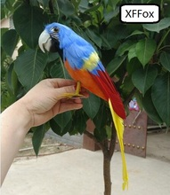 new real life blue parrot model foam&feather simulation bird gift about 30cm xf0121