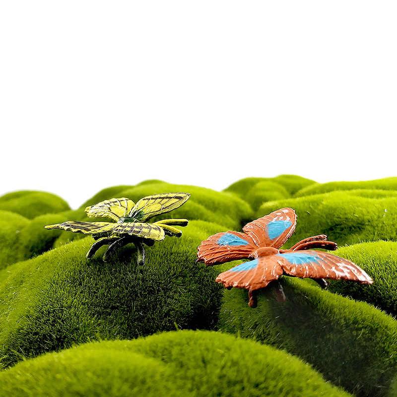 8 pçs/lote Simulação Borboleta inseto modelo animal Lifelike figura de ação Presente decor home Para Boy girl crianças Crianças brinquedos quentes conjunto