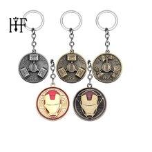 Мстители 4 кольцо для ключей Тор молоток Вращающийся брелок Железный человек вращается брелок держатель Автомобильный мешок llaveros брелки для мужчин