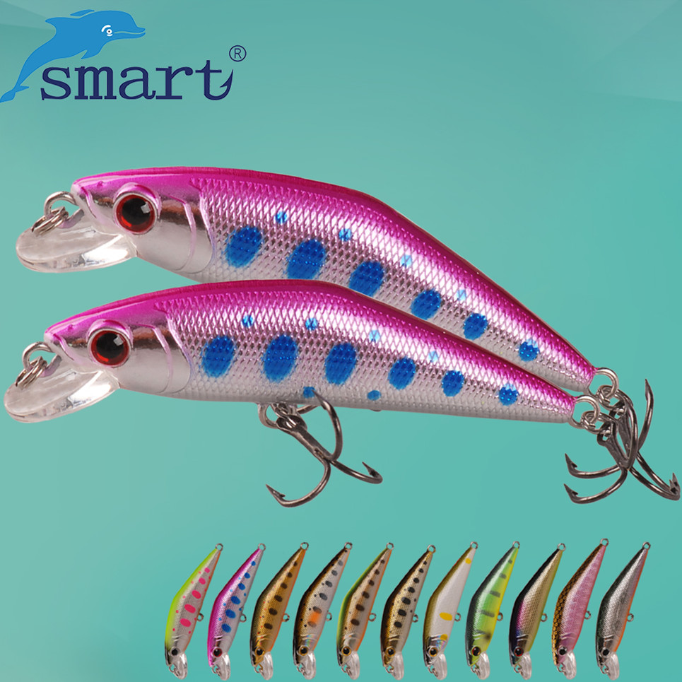 SMART Minnow Bait 50mm3.6g Sinking Hard Fishing Lure VMC Hook Isca Artificial Para Pesca Leurre Peche Fishing Wobblers Kunstaas wldslure 1pc 54g minnow sea fishing crankbait bass hard bait tuna lures wobbler trolling lure treble hook