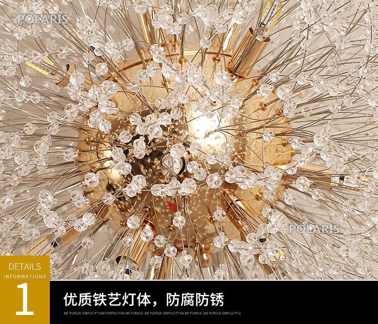 Lustre de cristal moderna iluminação lustres lâmpada