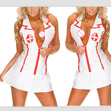 Women Sexy lingerie hot coaplay nurse uniform sexy costumes baby doll lingerie sexy erotic underwear lenceria sexy underwear(China)