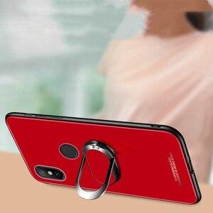 Image 4 - Xiaomi Mi Max 2 Fall Für Xiaomi Mi Max2 3 9 8 10 Se A3 Lite Pro Fall Abdeckung Luxus gehärtetem Glas Magnet Auto Halter TPU Fällen