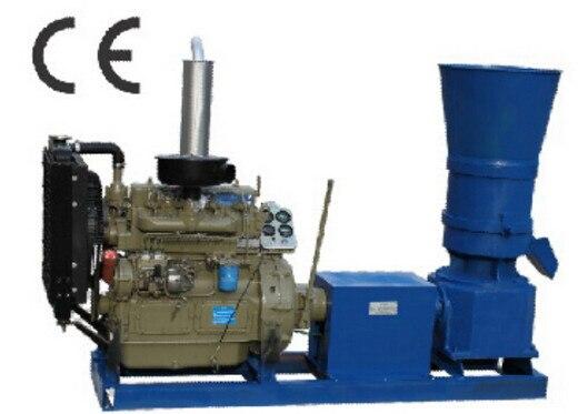 55Hp diesel engine 400 flat die animal feed pellet mill machine,wood pellet mill machine