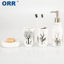 Bathroom set ceramic  4 pcs Free shipping conjunto banheiro ORR
