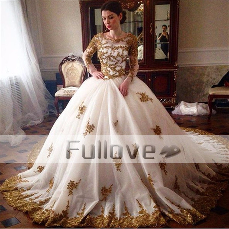Compare prices on gold bridal dresses online shopping buy for Wedding dresses princess cut