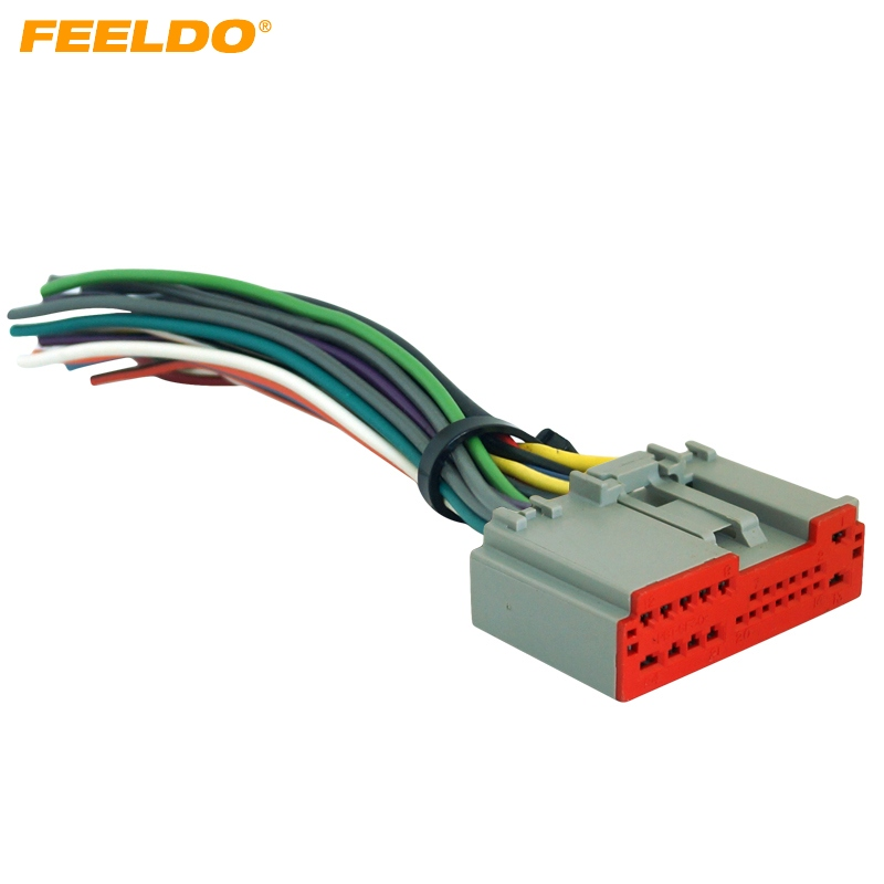 Feeldo Car Radio Player Wiring Harness Audio Stereo Wire