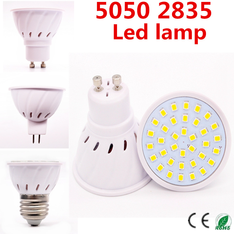 Hot lampada led lamp 5050 2835 e27 220v ampoule led for Ampoule led jardin