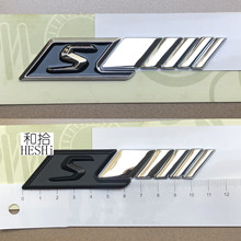 1pcs Standard size S Badge car rear emblem sticker for SAMG w117 cla45 w205 c63 w212 e63 w207 w176 a45 x156 gla45(China)
