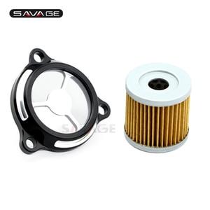 Engine Oil Filter Clear Cover For SUZUKI DRZ400 E/S/SM DR-Z 400 DRZ400S DRZ400SM DRZ400E LTZ400 LTR450 Motorcycle Accessories(China)