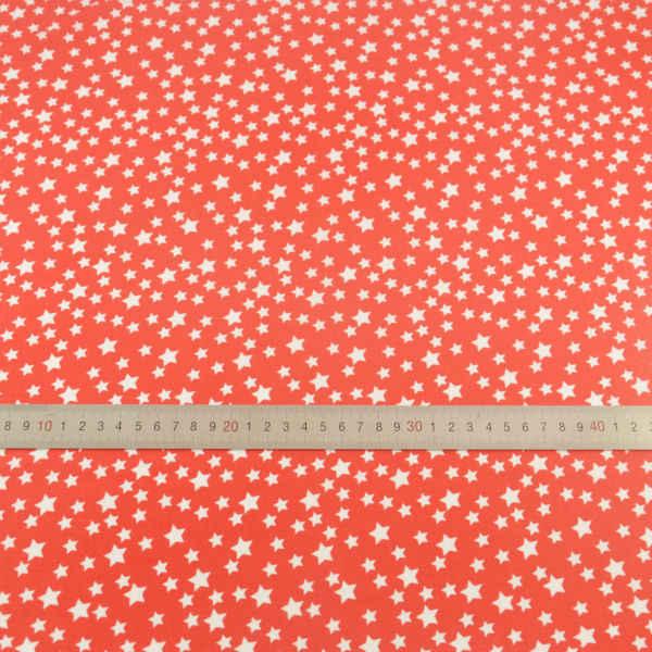 Kırmızı Pamuklu Patchwork Kumaşlar Beyaz Yıldız Tarzı El Sanatları Bebek Tekstil Dikiş Bez Telas Tecido Tilda Yağ Çeyrek Doku Kumaş CM