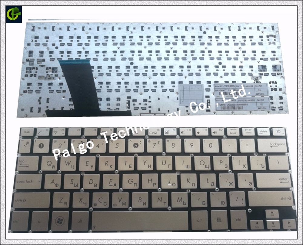 Russian New Keyboard for ASUS UX31LA UX31 UX31A UX31E silver RU laptop keyboard цена