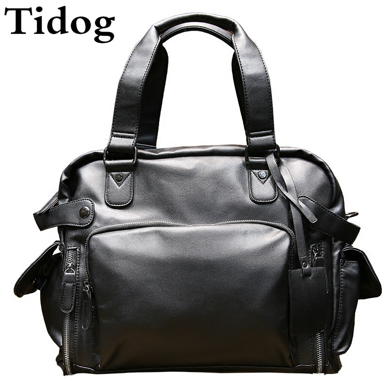 Tidog Shoulder Bag Handbag Satchel Bag Korean tide men's leisure casual bag popular handbag women simple shoulder bag vintage hand bag retro korean style 3 classic color satchel bag leisure locomotive bag
