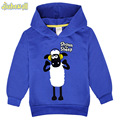 2017 New Arrivals Baby Shaun The Sheep Hoodies Boy Girl Long Sleeve Polyester Sweatshirt Children Hooded Costume Clothes FCY008
