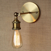 현대 간단한 로프트 청동 바 벽 램프 조정 욕실 연구 침실 식당 허영 조명 E27 110-220V