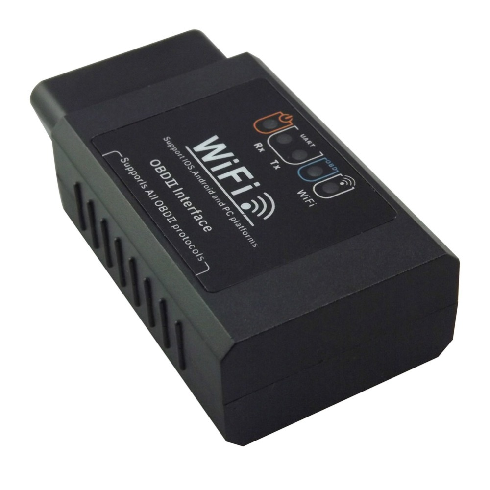 Prix pour Voiture WiFi ELM327 OBD2 OBD II Auto Diagnostic Scanner WiFi OBD outil d'analyse interne antenne lumière check engine pour iphone pc android