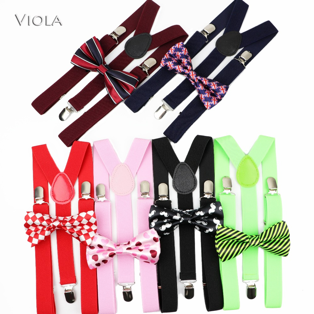 Mens Soild Colorful Suspenders Moustache Printed Polyester Bowtie Set Wedding Propose Marriage Daily Party Braces Gift Accessory(China)