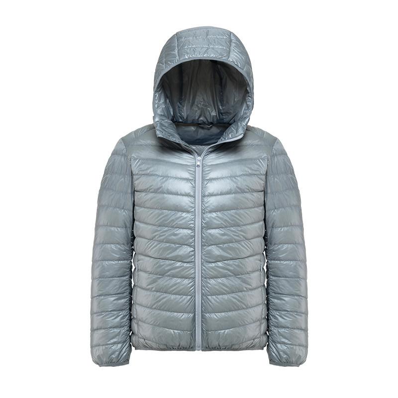 YuWaiJiaRen Oversize 8XL Winter Light Down Men Fashion Casual Hooded Warm Mens Down Jacket White Duck Down Coat 150kg Can Wear
