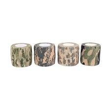 1 шт. 5 см x4. 5 растягивающаяся камуфляжная невидимая пленка для джунглей Камуфляжная Лента для охоты клейкая водостойкая камуфляжная невидимая лента