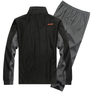 Image 3 - YIHUAHOO ブランドトラックスーツ男性ツーピース服セットカジュアルジャケット + パンツ 2 本トラックスーツスポーツウェア Sweatsuits 男 LB1601