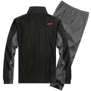 Image 3 - YIHUAHOO Marke Trainingsanzug Männer Zwei Stück Kleidung Sets Casual Jacke + Hosen 2PCS Track Anzug Sportswear Sweatsuits Mann LB1601