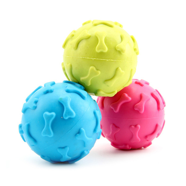Puppy Dogs Toys Pets Rubber Ball Resistant Bite Chew Training Toy