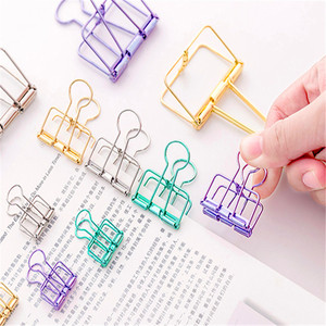 Luxury high quality 93 Multicolor Metal Binder Clip Clamp Paper Bookmark Clips Student School Office Supplies(China)