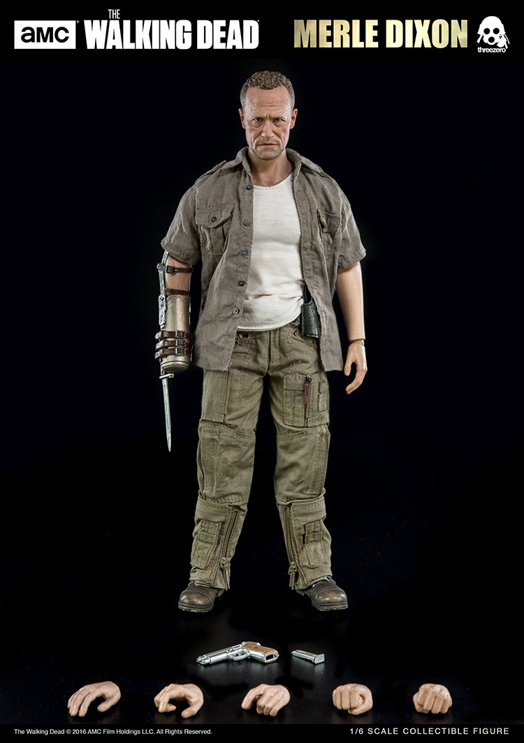 1/6 Walking Dead Merle Dixon Moore Soldier Action Figure Model фигурка planet of the apes action figure classic gorilla soldier 2 pack 18 см