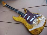 Wholesale Fdr STR Model Electric Guitar AGED Birdeye Maple Body Guitarra Electrica In Natutral Brown 110302