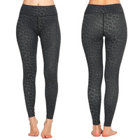 ספורט רך Leopard מודפס נשים הדוק חותלות צפצף יוגה אלסטי ריצת מכנסיים מכנסיים כושר Comprssion ארוך בחורה נשית
