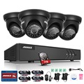 ANNKE 4CH HD-TVI 1080 P Lite Видео Система Безопасности DVR с 1 ТБ Жесткий Диск и (4) 720 P Открытый Фиксированным Всепогодный Камеры