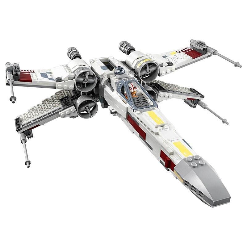 05145 Star Wars Poe's X Wing Fighter Building Blocks Bricks Starfighter Figures Model Toys for Children Compatible Legoing 75218