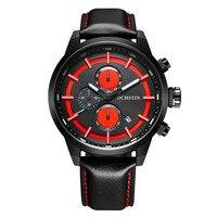 Montres ochstinファッションカジュアル日付メンズ腕時計トップブランドの高級革ビジネス石英の腕時計男
