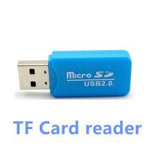 1 PCS Coloré Externe Mini lecteur de cartes USB 2.0 lecteur de Carte pour Micro SD Carte TF Carte pour PC MP3 MP4 Lecteur usb hub adaptateur 1 $