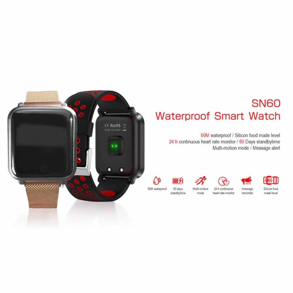 Heart Rate Sleep Monitor Sports Smart Watch  with  Remote Camera suitable for swimming Support Pedometer Sedentary Reminder z4 smartwatch android ios compatible ip67 waterproof heart rate monitor smart watch sedentary reminder pedometer remote camera