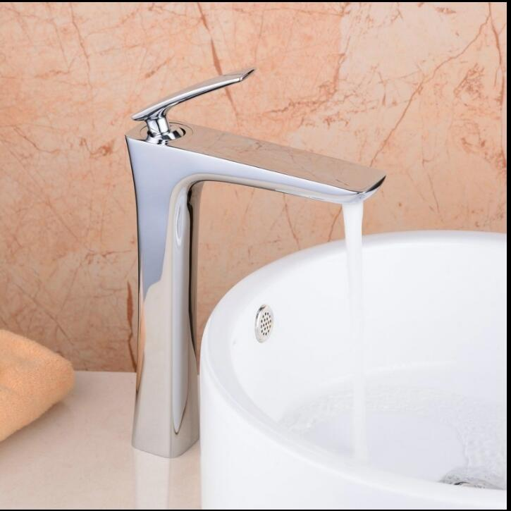 Free Shipping  brass single lever hot and cold chrome and white tall bathroom basin faucet bathroom sink faucet bathroom faucet pastoralism and agriculture pennar basin india