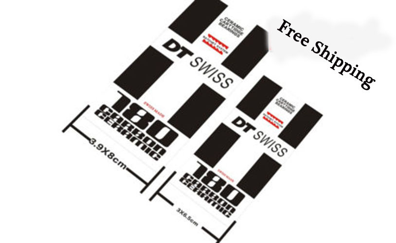 New <font><b>DT</b></font> SWISS 180 <font><b>HUB</b></font> Mountain Bike 26 inch Bicycle replacement STICKERS for MTB DH Race cycling Dirt Decals free shipping