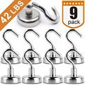 Сверхмощные магнитные крючки  сильный неодимовый магнит крюк для дома  кухни  рабочего места и т. д.  D25mm держать до 42 фунтов  упаковка из 9