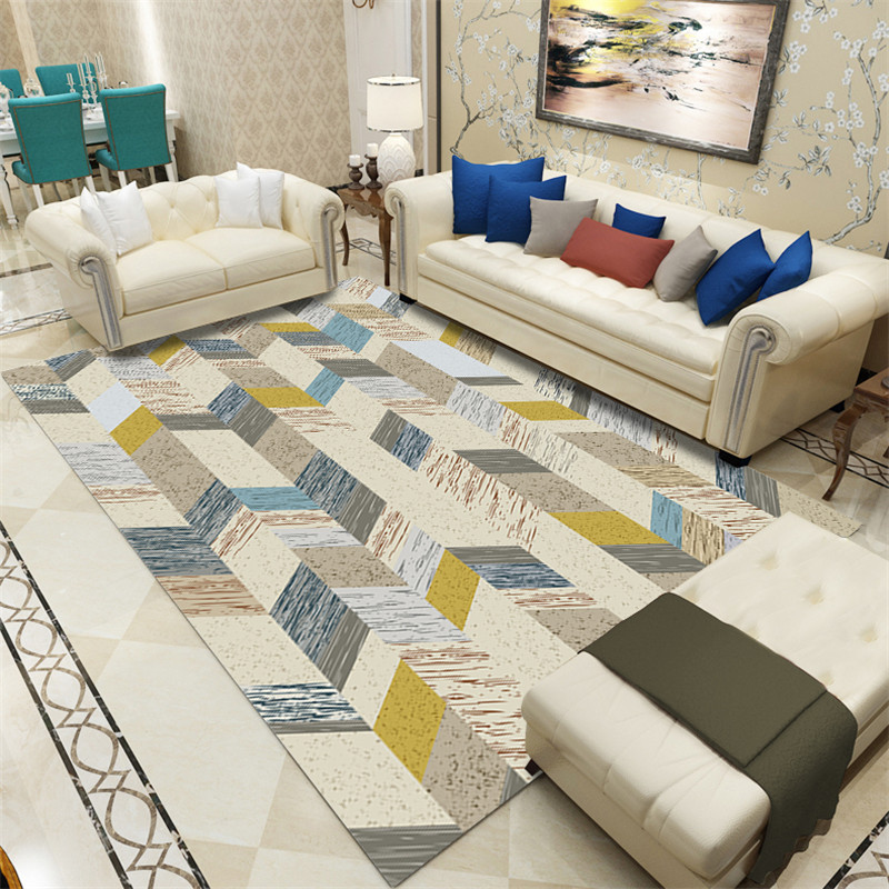 Fashion Nordic Abstract Carpets for Living Room Bedroom Area Rugs Coffee Table Antiskid Floor Mats Modern Parlor Decoar tapetes in Carpet from Home Garden