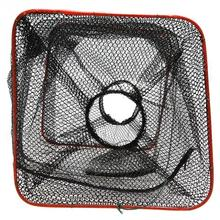 20 x 20 x 50cm Folding Fishing Net Catch Crab Shrimp Minnow Fishing Bait Trap Cast Dip Net Nylon Network Cage