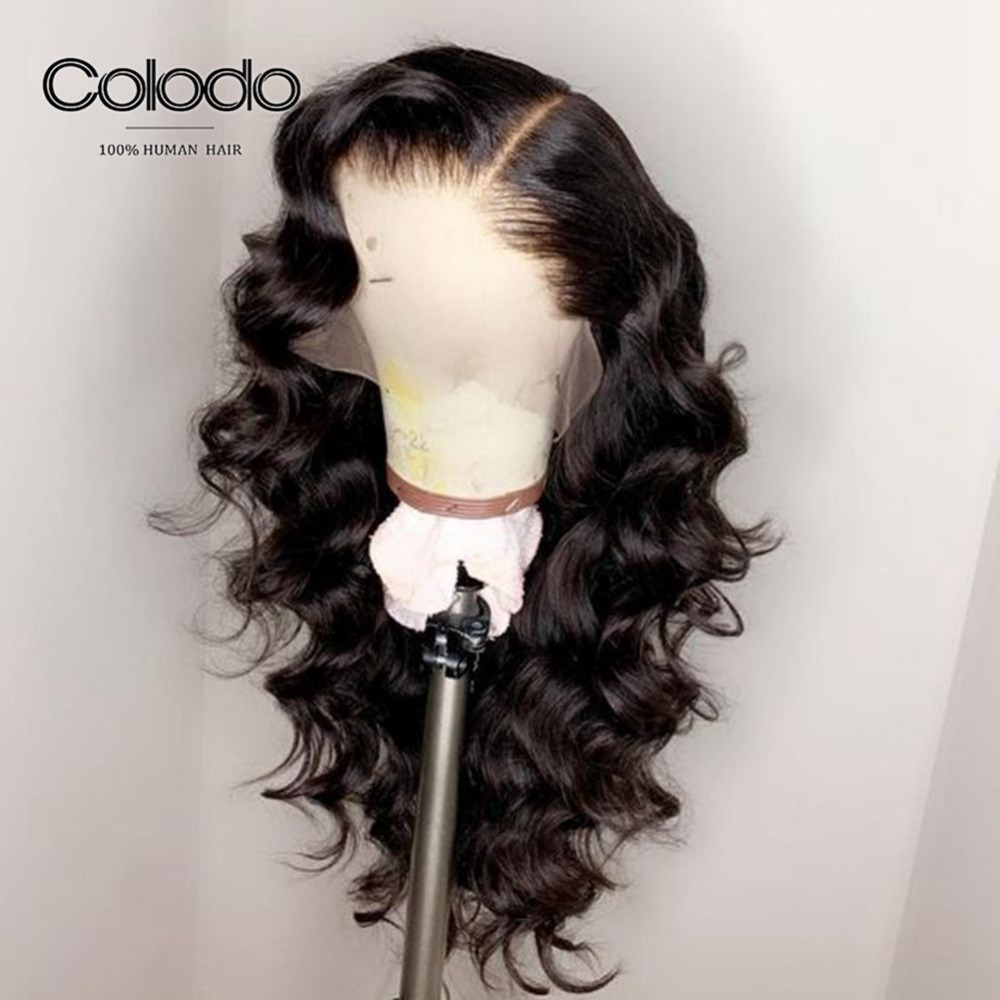 COLODO Body Wave Wig For Women Pre Plucked Hairline 8-24Inch Brazilian Remy Hair Bleached Knots Full Lace Human Hair Wigs