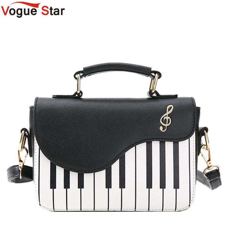 9ccab7dda2 Female Embroidery Crossbody Bags for Women Messenger Bag Ladies Piano keys  Pu Leather Handbag Women Small