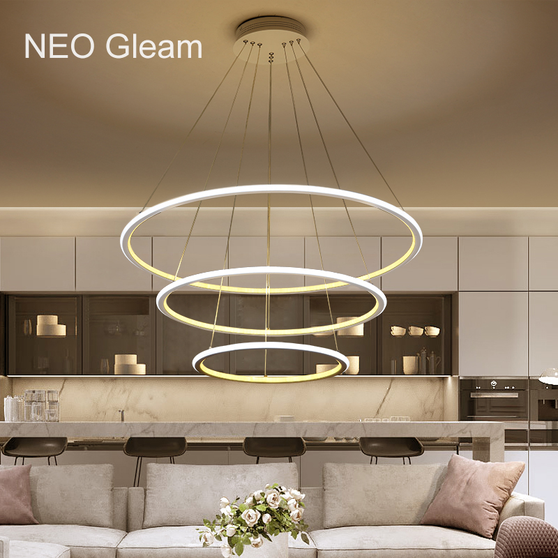 NEO GLeam Minimalism Modern Chandelier Light For Dining Room Bar Kitchen lustres para sala de jantar Hanging Led Chandelier Lamp led chandeliers for dining room bedroom kitchen white color k9 crystal chandelier light for home decoration lustres para quarto