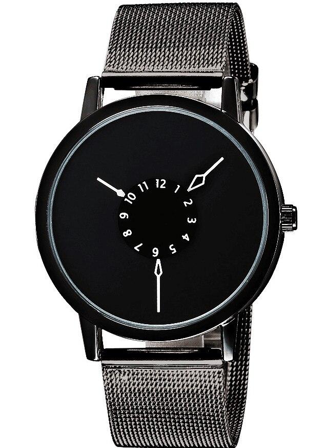 online get cheap mens black metal watch band aliexpress com fashion black dial simple design metal net mesh steel band quartz wrist watch women lady men