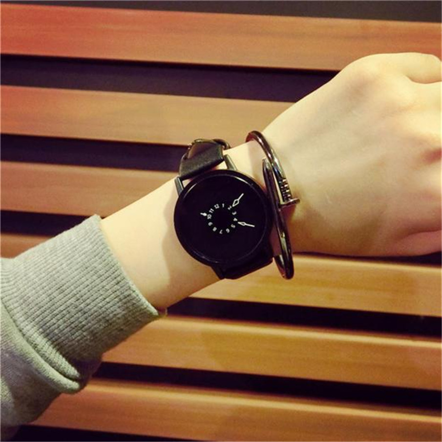2018 Top Brand Luxury Classic Fashion Lovers Quartz Watch Men Women Watches Leather Band Quartz Analog Wrist Watch Clock Female fashion men women lovers clocks silicone band black big dial quartz analog wrist watch creative apr22
