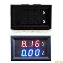 Новый LED AMP двойной цифровой вольтметр Gauge DC 100 В 10A Вольтметр Амперметр синий + красный Бытовая Электроника