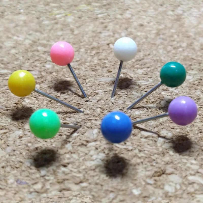 500 Buah/Banyak Cahaya Mutiara Menemukan Pin 10 Warna DIY Patchwork Jahit Pin Posisi Jarum Pakaian Aksesori