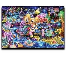 Diamond Paint Cross Stitch Embroidery Square Cartoon Anime & Round Mosaic Image Full Shiny Mickey Mouse